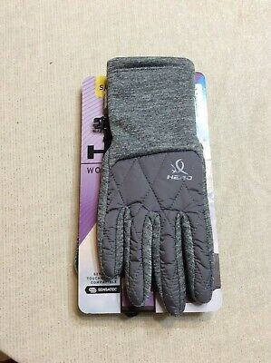 Head womens Hybrid Sensatec Touchscreen Running Gloves size small/petite - Grey