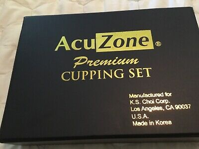 Acuzone Premium Cupping Set 19 Plastic Jars Muscle Therapy Dishwasher Safe