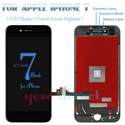 For iPhone 7 Plus Retina LCD Screen Replacement Display Touch Digitizer Black