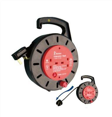 5m Cable Reel with 2 Sockets - 10Amp