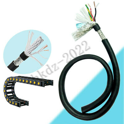 2 3 4 6 8 Core Flexible Cable Wire Shielded Twisted Braided Automotive Marine