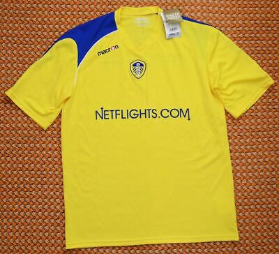 Leeds United, Yellow Training football Shirt by Macron, Adult XXXL - 2XL