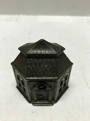 "Cast Iron ""Six Sided Building"" Still Bank-single story"