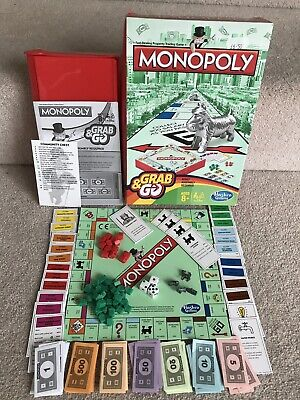 Hasbro Monopoly Grab And Go Travel Game Portable Family Fun Complete VGC