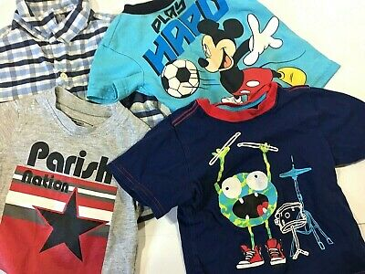 Carter's Parish Nation ect Boy 12M - 24M Boy 4 Piece Lot of Short Sleeve Tops