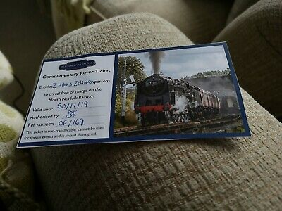 North Norfolk Railway family ticket valid until November 30th 2019