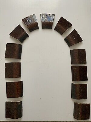 30s Fireplace Tiles Curved And Straight Tortis Shell / Briwn