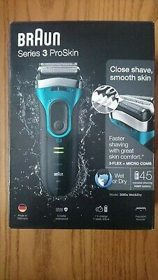 Braun Series 3 ProSkin 3080S Rechargeable Wet&Dry Electric Shaver