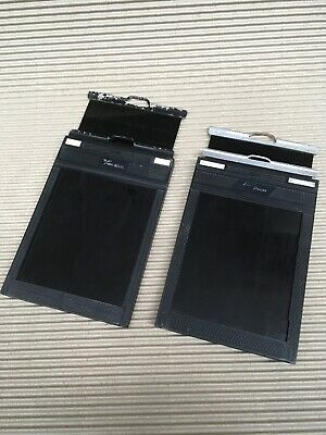"""Two 4 x 5 cut film holders: """"Lisco REGAL"""" and """"Fidelity Deluxe"""""""