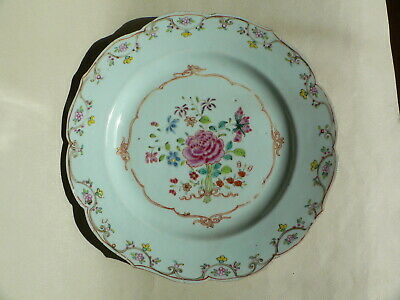 18th Century Chinese Famille Rose Plate Qianlong
