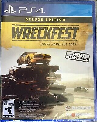 Wreckfest Deluxe Edition Drive Hard Die Last Playstation 4 Ps4 Brand New/Sealed