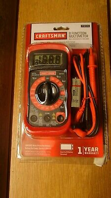 CRAFTSMAN 8 FUNCTION DIGITAL MULTIMETER Brand New 34-82141 Volt Meter Ohmeter
