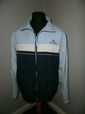 Vtg 1980s Fred Perry Tracksuit Top Size L