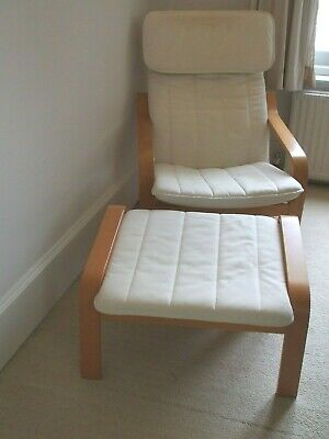 Surprising Ikea Tirup White Leather Swivel Chair And Free Footstool Machost Co Dining Chair Design Ideas Machostcouk