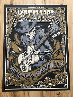 2019 Metallica Nashville Music City Poster Print Squindo Show Ed Numbered x/350