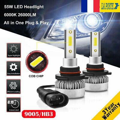 110W 26000LM 9005 HB3 LED Ampoule Voiture Feux Lampe Kit Phare Xenon Blanc 6000K