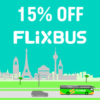 #1 Flixbus Coupon kupon rabbatt 15% -sconto until 15/10/2019 Only in App nolimit