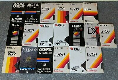 39x Betamax Video Tapes - Used - Various Content - Good condition