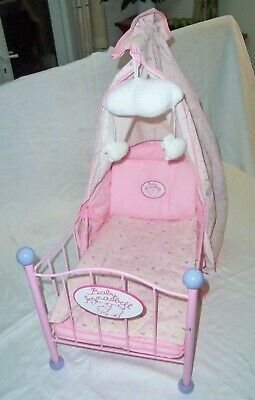Baby Annabell Crib In Pink, Full Bedding Set & Working Musical Mobile Zapf Creat