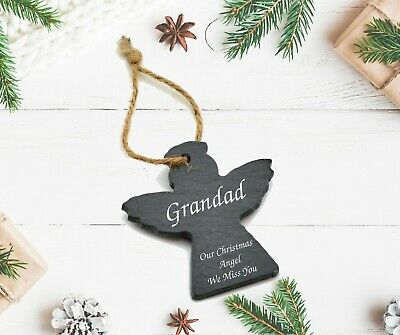 Personalised Christmas Angel Xmas Tree Memorial Gift Remembrance Bauble Decor