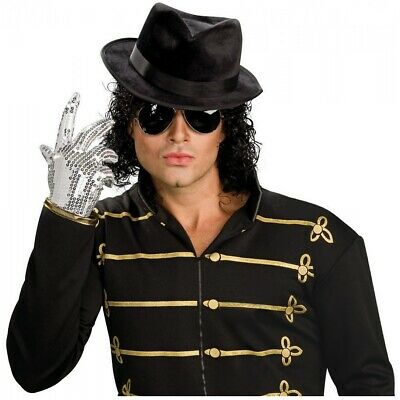 Michael Jackson Silver Sequin Glove Adult 80's Pop Star Halloween Costume Acsry