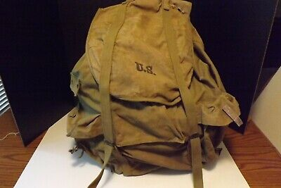 US Army World War Two Backpack1942 Meese Manufactured With Metal Back Support