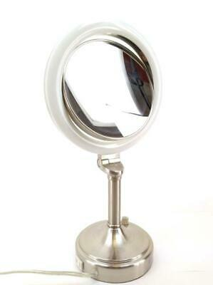 Zadro Lighted Makeup Mirror.Zadro Surround Light Pedestal Vanity Mirror Dual Sided 1x