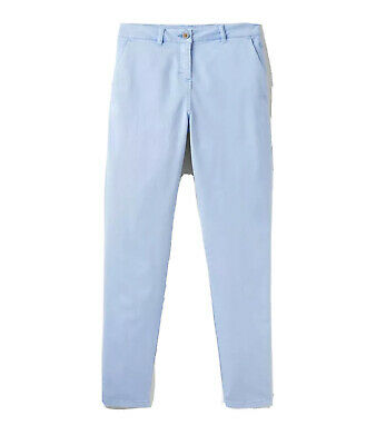 Joules Womens Hesford Chinos Trousers in Light BLUE Size 20