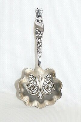 Antique Sterling Whiting Mfg. Co. Nut & Bonbon Spoon Heraldic Pattern1880