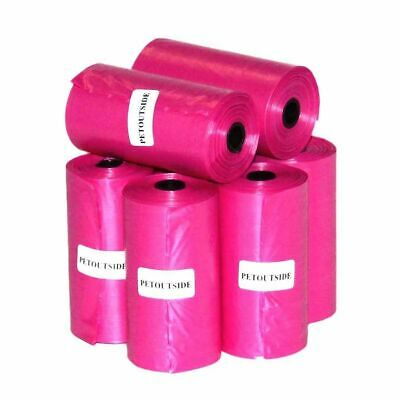 1000 Pink, Dog Pet Waste Poop Diaper Bags, Unscented Refill Rolls