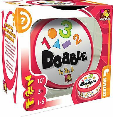 Asmodee Editions Dobble 1, 2, 3 Card Game Kids Learn Numbers Educational Tool