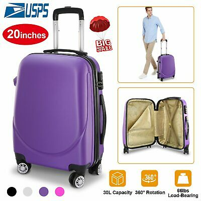 Portable Carry-on Rolling Wheels Cabin Suitcase 20 Inch Hardside Spinner Luggage