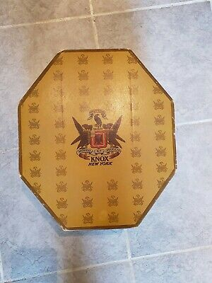 Vintage Knox New York Cardboard Hat Box with Insert