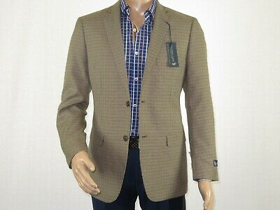 Men Jacket U.S. Polo Assn. by Adolfo Houndstooth Single breast Gle3032J brown