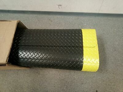 Notrax 985S0039YB 3 Ft W 9 Ft L Black with Yellow Border Antifatigue Mat