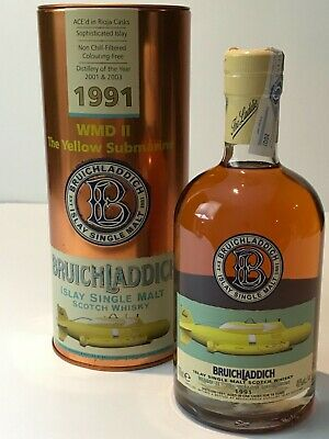 WHISKY BRUICHLADDICH 1991 WMD II THE YELLOW SUBMARINE 14 YEARS OLD  70cl. 46%