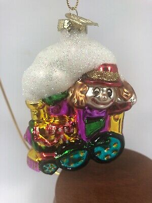 Thomas Pacconi Santa Train Individual Blown Glass Ornament Clown Engine I19