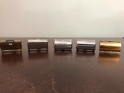 Vintage Razors Lot Of 5 GILLETTE, Gem & Ever Ready Gold And Silver Colored