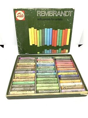 Vintage Rembrandt Soft Pastels by Talens, Made in Holland 45 Piece Original Box