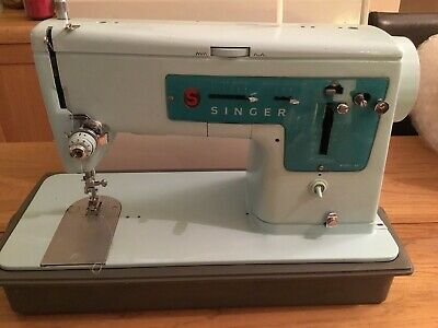 Electric Singer Sewing Machine 347 In Case With Foot Pedal / Full Working Order