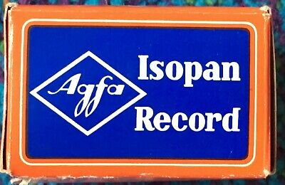 VINTAGE AGFA Isopan Record Film 135-36 Expired 1970, 36 Exp. - NOS - NEW IN BOX!