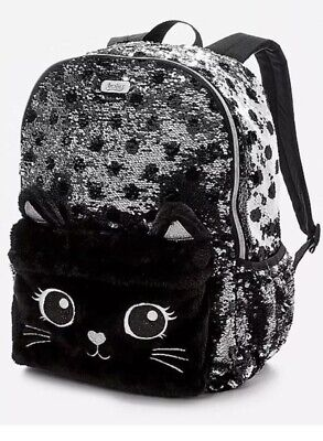 Exclusive NWT 2018 Justice Cat Flip Sequin Backpack ! SOLD OUT!!