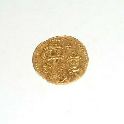 Byzantine Gold Coin Solidus 654-659 AD Constans II Constantine IV 4.48 grams!
