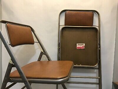 Swell Set Of 4 Vintage Samsonite Metal Folding Chairs 106 95 Creativecarmelina Interior Chair Design Creativecarmelinacom