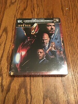Iron Man 4K Ultra HD + Blu-ray/Digital Steelbook Bestbuy Exclusive BRAND NEW