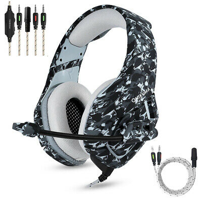 PS4 Gaming Headset ONIKUMA K1 Wired Stereo Headphones Over-Ear for Xbox One PC