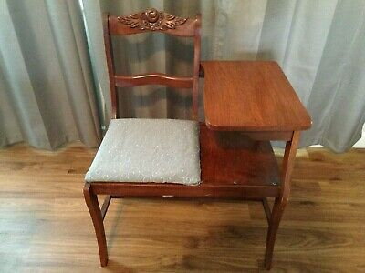 VINTAGE Telephone Table Gossip Chair Side Bench LOCAL PICK UP ONLY