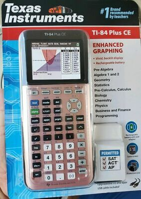 Texas Instruments TI-84 Plus CE Color Graphing Calculator, Rose Gold
