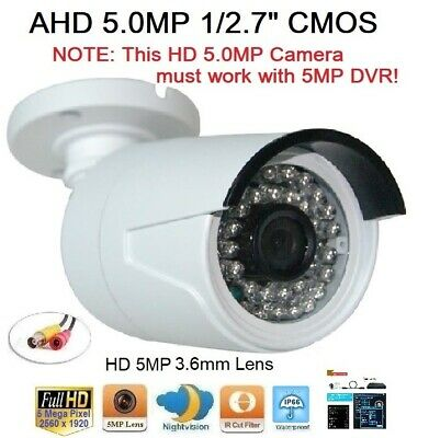 """157B Sunvision AHD 2.0MP 1080P 1//3/"""" CMOS In//outdoor Camera 36IR 2MP 3.6mm Lens"""