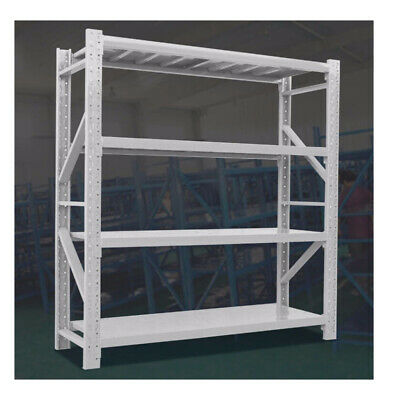 Used second hand solid warehouse shelf storage - White